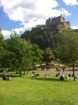 Edinburgh Castle from the West Princes Gardens