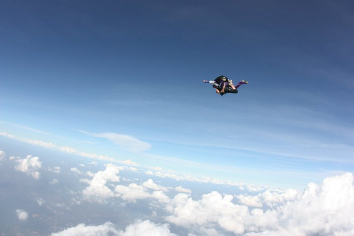 My friend Cat skydiving