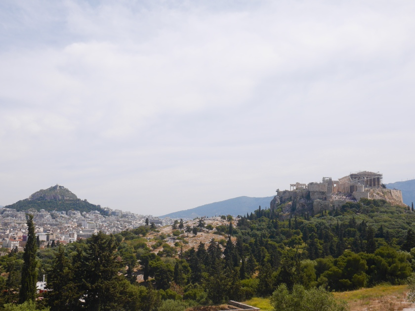 Mt Lycabettus and The Acropolis